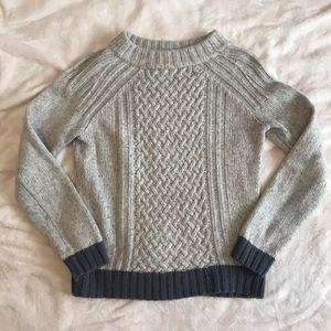 Anthropologie grey mock-neck sweater